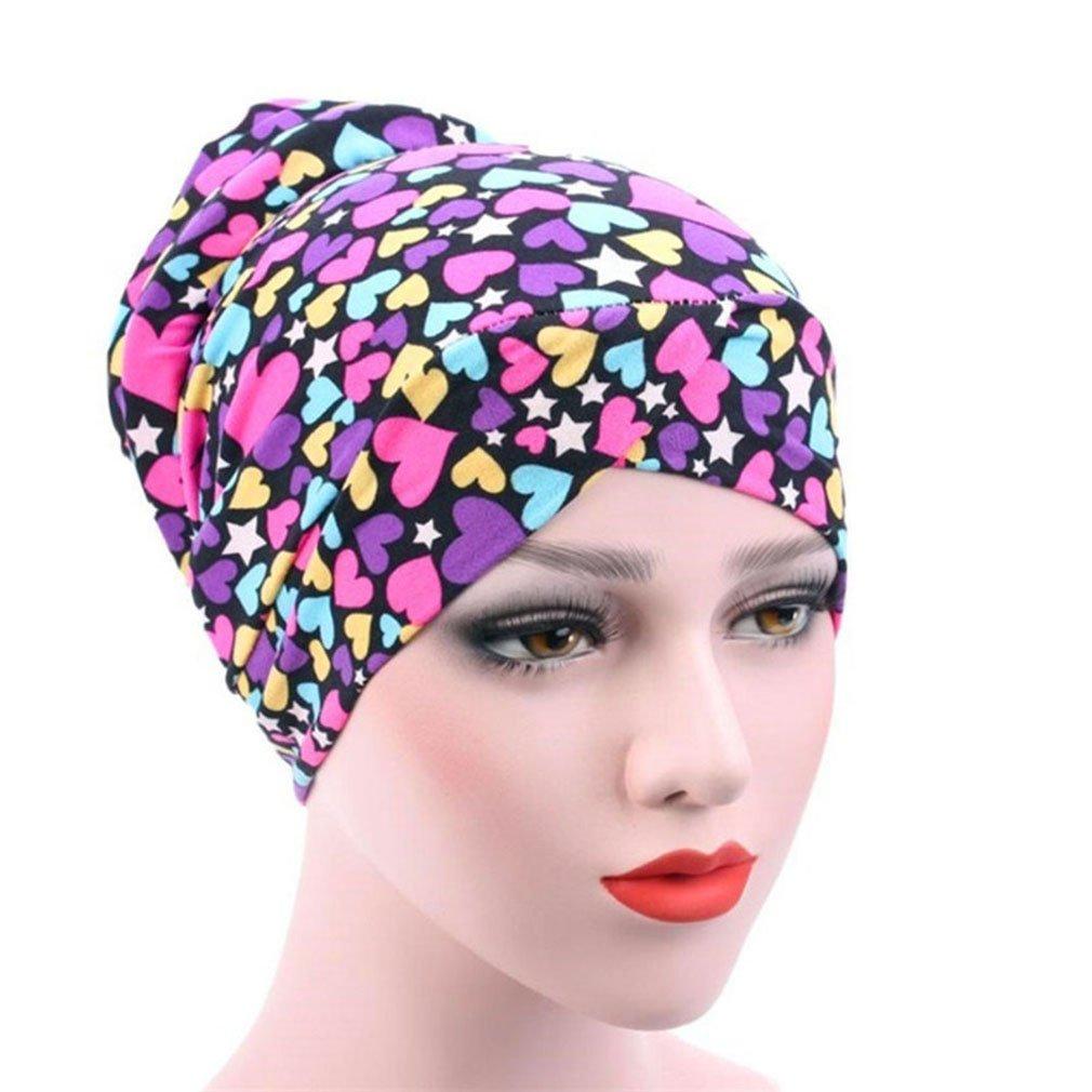 58ed6522933 Gilroy Women s Muslim Turban Beanie Hat Chemo Cancer Cap Hair Loss Head  Scarf Hijab at Amazon Women s Clothing store