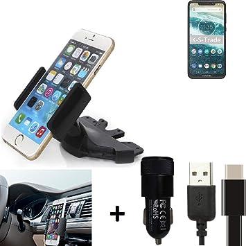 K-S-Trade® Top Set para Motorola One Power Soporte Ranura De ...