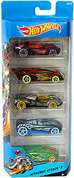 Hot Wheels Nitrobot Attack 5 Pack Very Cool Scarce Set by Hot ...