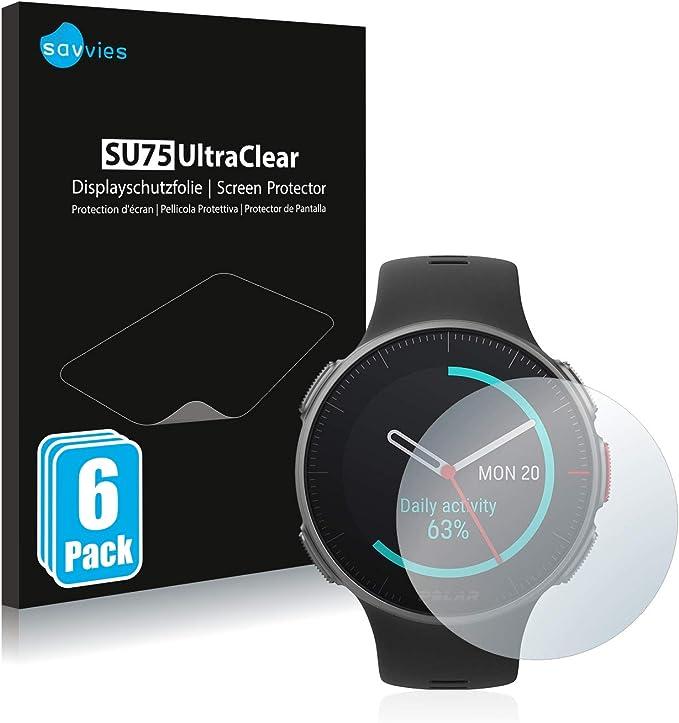 savvies Protector Pantalla Compatible con Polar Vantage V/V Titan (6 Unidades) Pelicula Ultra Transparente: Amazon.es: Electrónica