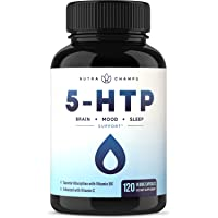 5-HTP 200mg Supplement - 120 Capsules - Natural Support for Brain, Mood & Sleep...
