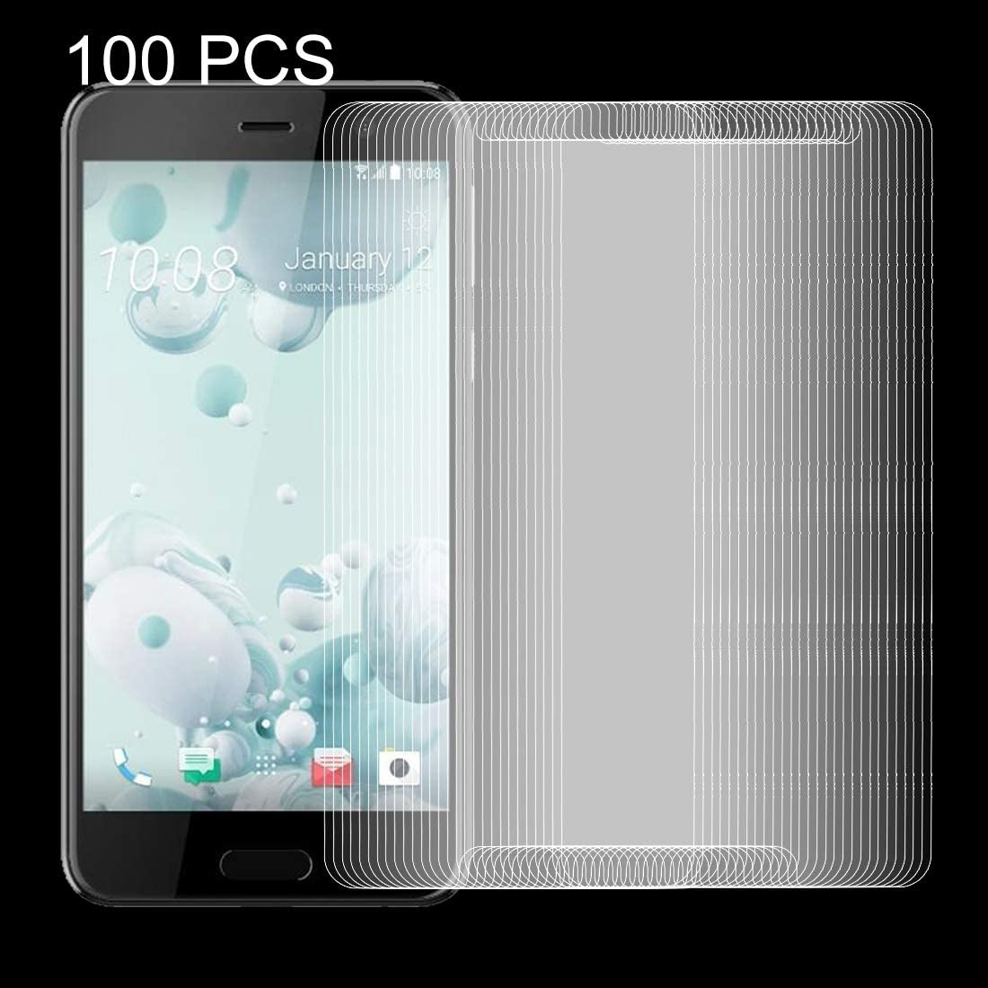 Ruanmaoshi Mobile Accessory 100 PCS for HTC U Play 0.26mm 9H Surface Hardness Explosion-Proof Non-Full Screen Tempered Glass Screen Film Phone Tempered Glass Film