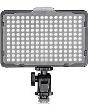 Neewer 176 LED Ultra Brillante Regulable Luz Video LED cámara con 1/4 de Pulgada Rosca Montura para Canon, Nikon, Pentax, Panasonic, Sony, Samsung, Olympus y Otras cámaras Digitales SLR, 3200-5600K