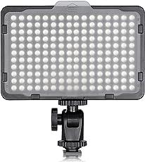 Neewer Photo Studio 176 LED 10089503, Video Luz Ultra Brillante Regulable 176 LED con Monataje de 1/4-pulgadas, Color Negro
