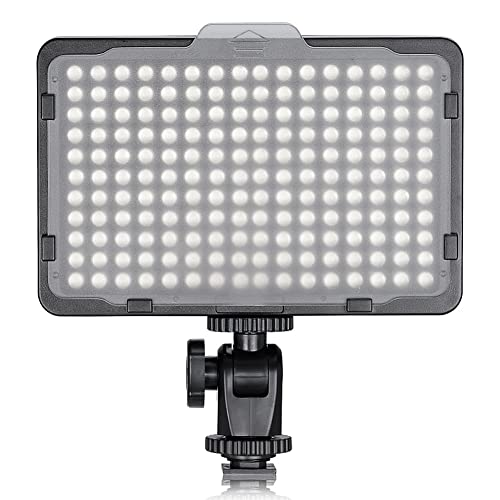 Neewer Photo Studio 176 LED Ultra Bright Dimmable on Camera Video Light with 1/4-inch Thread Mount for Canon, Nikon, Pentax, Panasonic, Sony, Samsung, Olympus and Other Digital SLR Cameras, 5600K