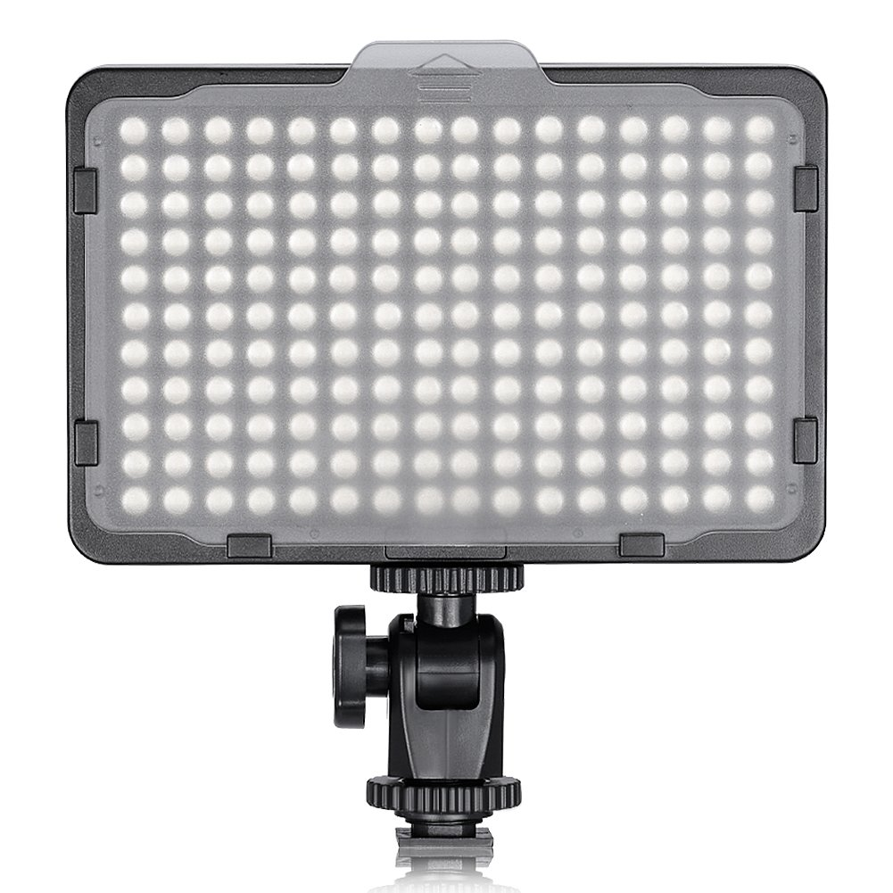 Neewer Photo Studio 176 LED Ultra Bright Dimmable on Camera Video Light with 1/4-inch Thread Mount for Canon, Nikon, Panasonic, Sony, Olympus and Other Digital SLR Cameras, 5600K(Battery Not Included) by Neewer