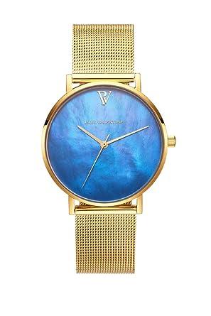 Paul Valentine Blue Seashell - Reloj de Pulsera para Mujer (36 mm)