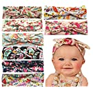 Qandsweet Baby Girl Elastic Hair Hoops Headbands (8pack)