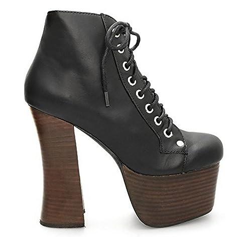factory authentic 69a98 310aa Jeffrey Campbell scarpe da donna Tronchetti in pelle - Nero