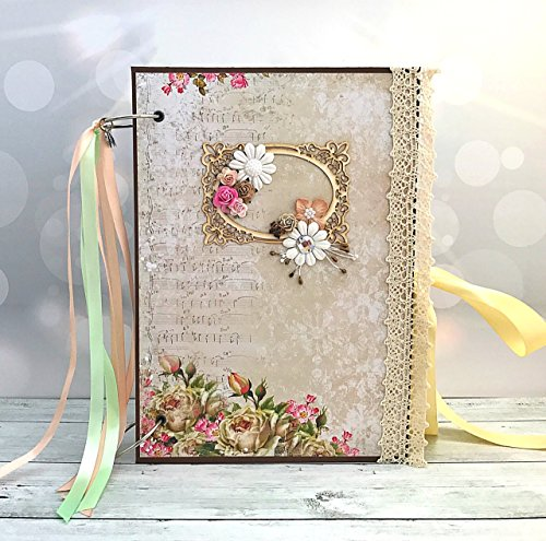 Kristabella Creations 8x11 Wedding Scrapbook Album, Memory Book, Photo Album, Personalized Wedding Gift, size A4 by Kristabella Creations