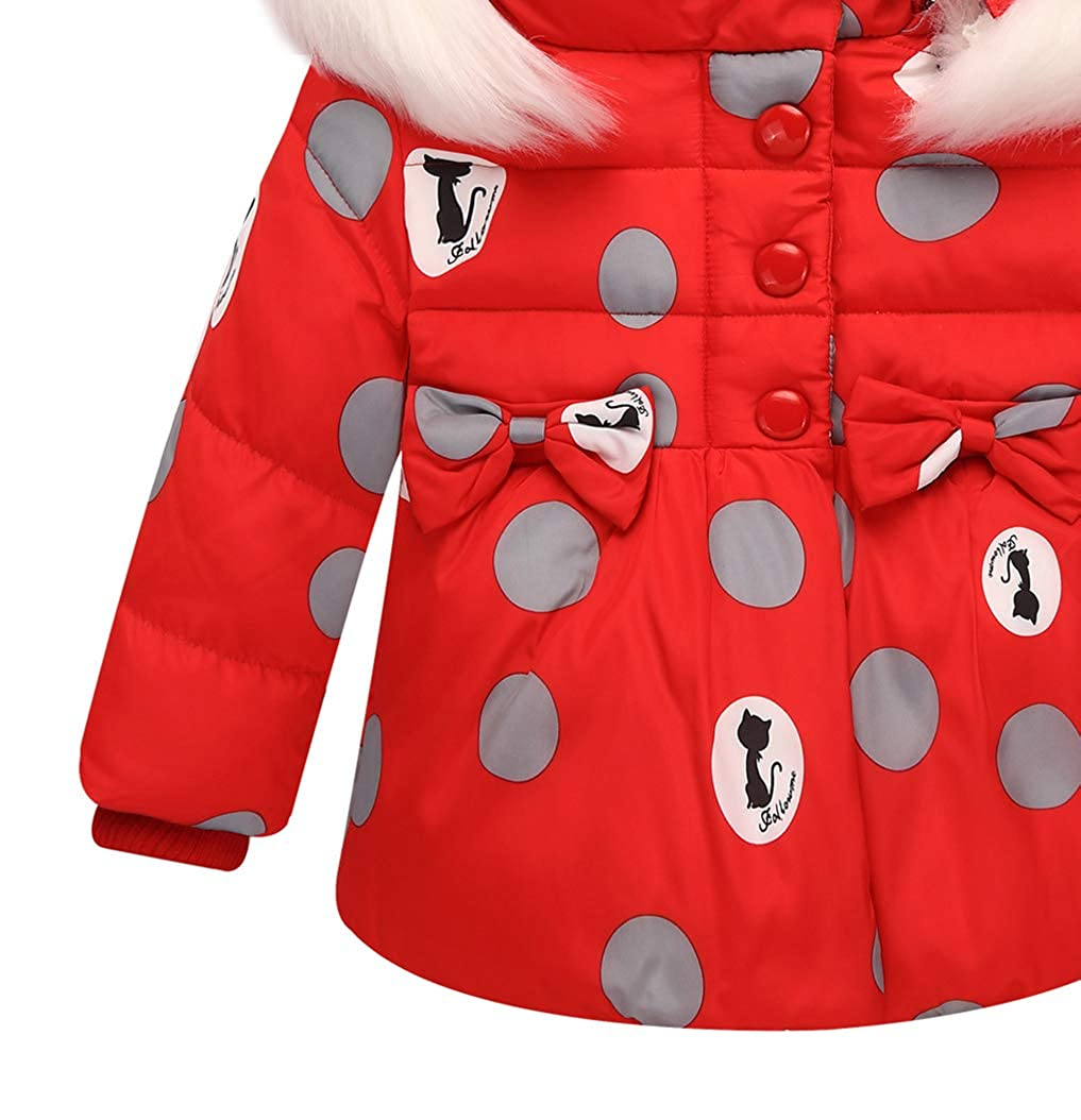 zhxinashu Kids Snowsuit Winter Bib Pants 80-100CM Infant Long Sleeve Outerwear Toddler Warm Hoodie Down Jacket