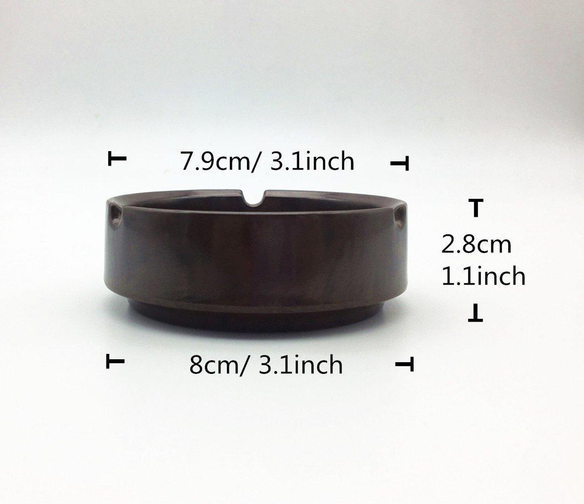 3-Pack S-3.1 HERF Plastic Melamine Ashtrays Dark-Brown