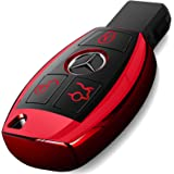 Intermerge for Mercedes Benz Key Fob Cover, Special Soft TPU Key Case Cover Protector Compatible with Mercedes Benz C E…