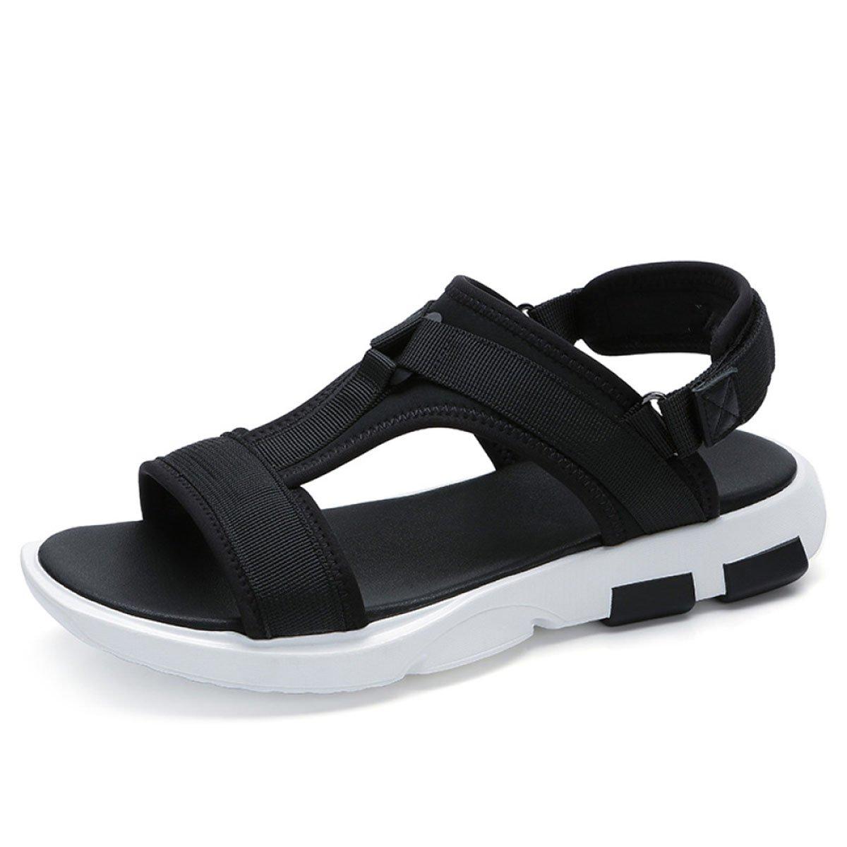 Koyi Herrenschuhe Sommermode Atmungsaktive Sandalen schwarz Freizeit Urlaub Rutschfeste JugendSandale schwarz Sandalen 1a4d90