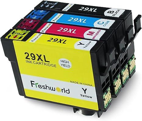Freshworld Reemplazo 29XL Cartuchos de tinta (1 Negro,1 Cian,1 ...