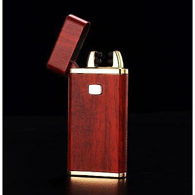 CJOY USB rechargeable briquets électroniques bois texture Rouge