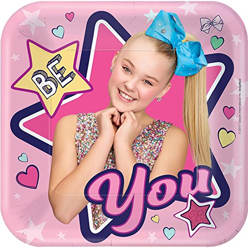 Buy Bargain Amscan 541900 Square Plates | Jojo Siwa Collection | Birthday, Multicolor, One Size