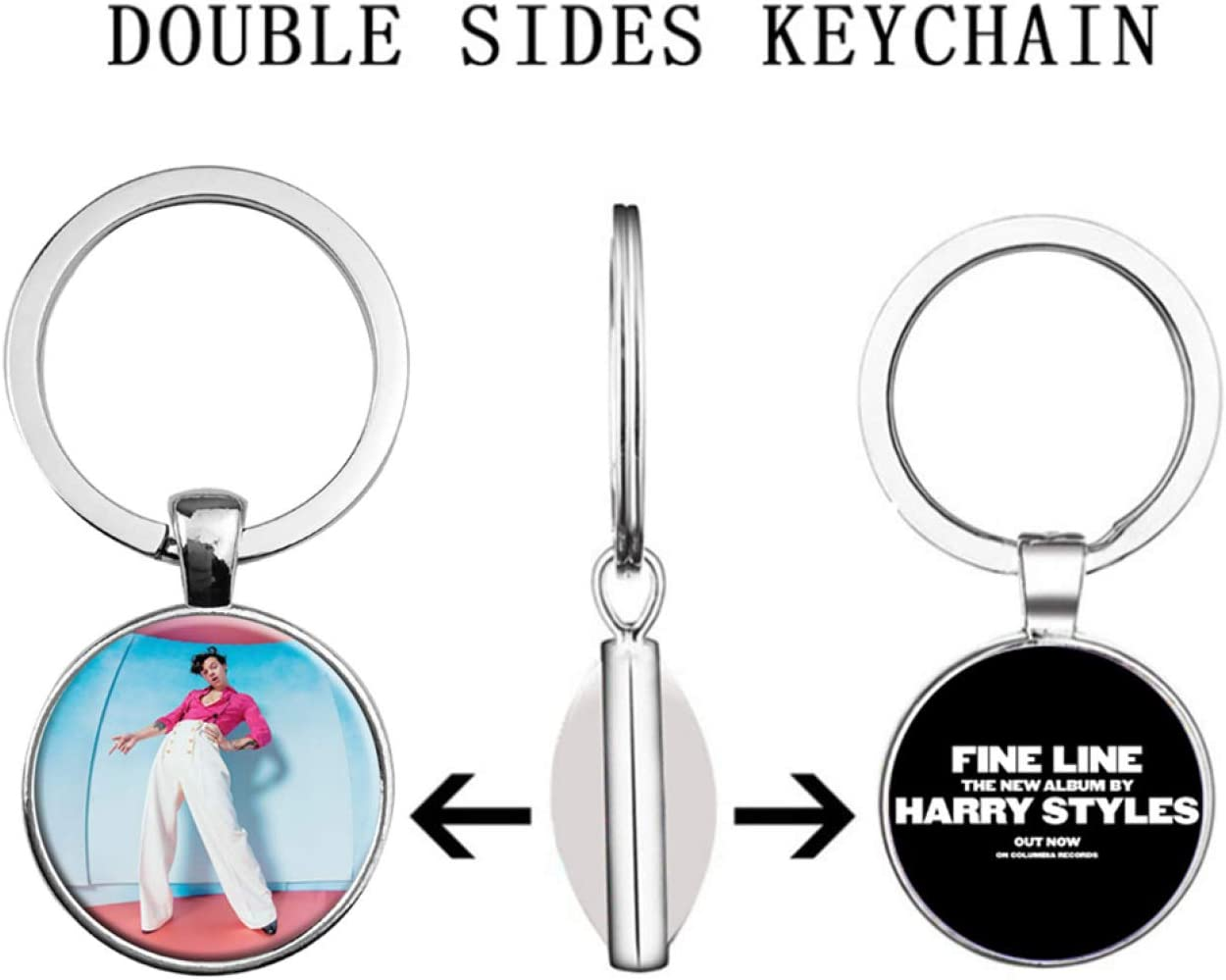 None 1 Shanxia Original New 2020 H/árry Styl/és Key chain Stainless Steel Keychain H/árry Styl/és Time Gem Gifts