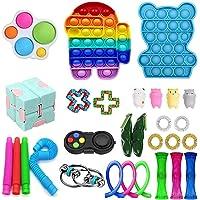 28Pcs Fidget Toys Cheap Fidget Toys Set Sensory Fidget Toys for Kids Adults, Miniature Novelty Toys, Stress Relief and…