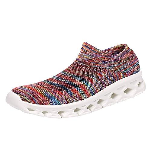 OHQ Zapatillas De Running para Mujer Moda Pareja Ocio Correr Deportes Calcetines Zapatos Elastic Force Light Zapatillas: Amazon.es: Zapatos y complementos