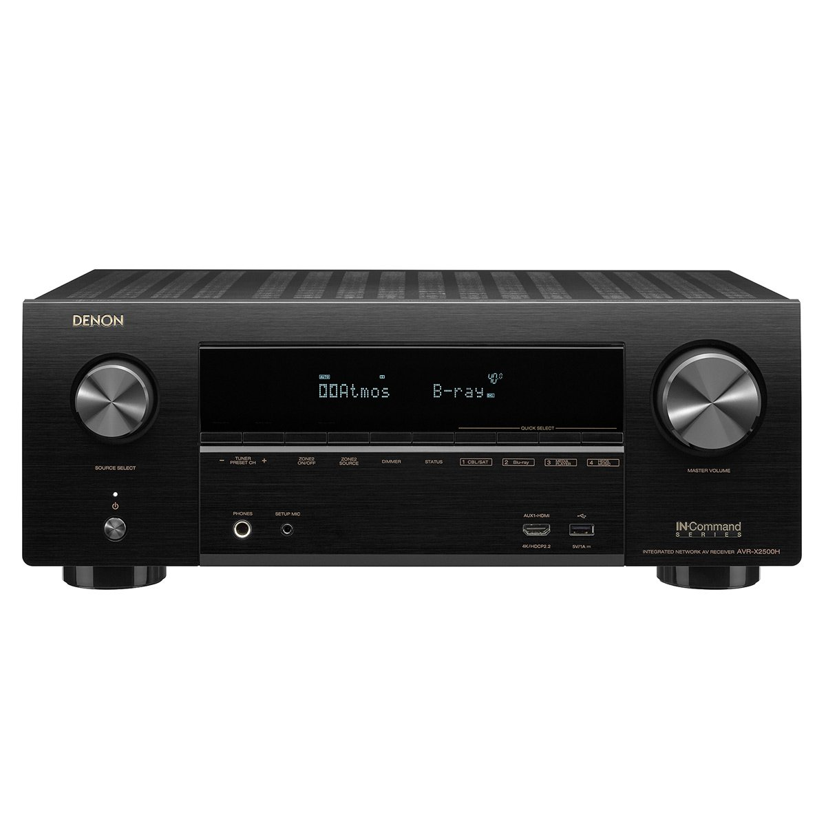 Denon AVR-X2500H 7.2-Ch x 95 Watts A/V Receiver with HEOS (Renewed) by Denon