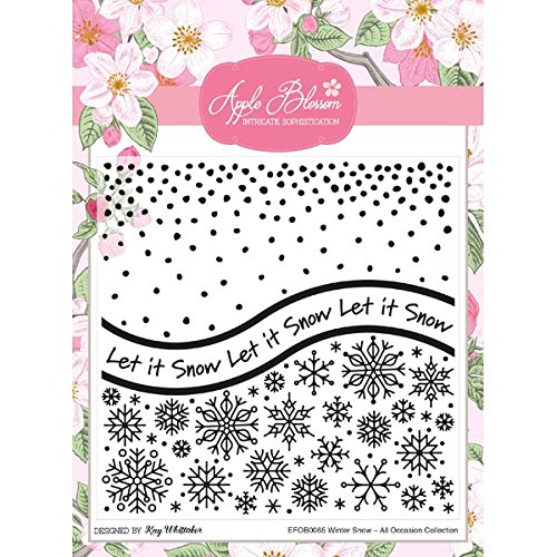 Apple Blossom All Occasion Embossing Folder Winter Snow
