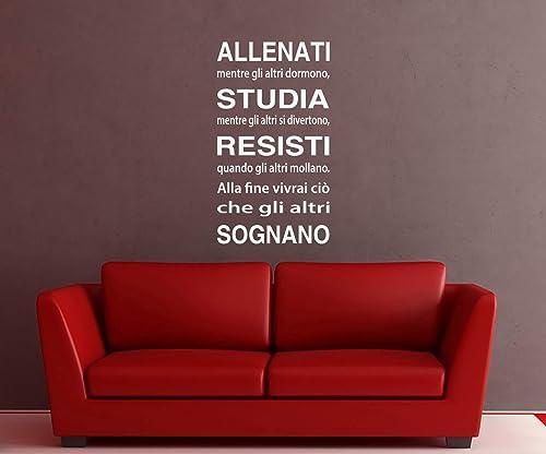 Adesivi Murali Frase Sulla Vita Frasi Adesive Per Ufficio Adesivi Murali Cameretta Scritte Adesive Salotto Amazon It Handmade