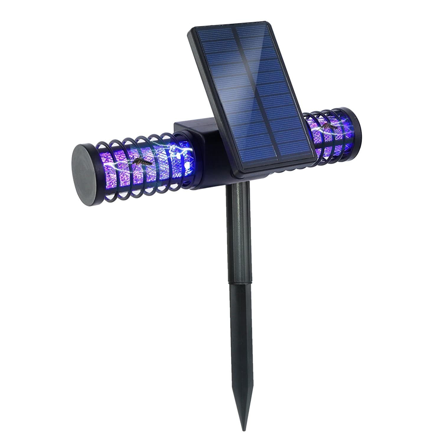 BATTOP Solar LED Outdoor Mosquito Killer Lamp Larger Bug Zapper Light Whole Night Protect, Large