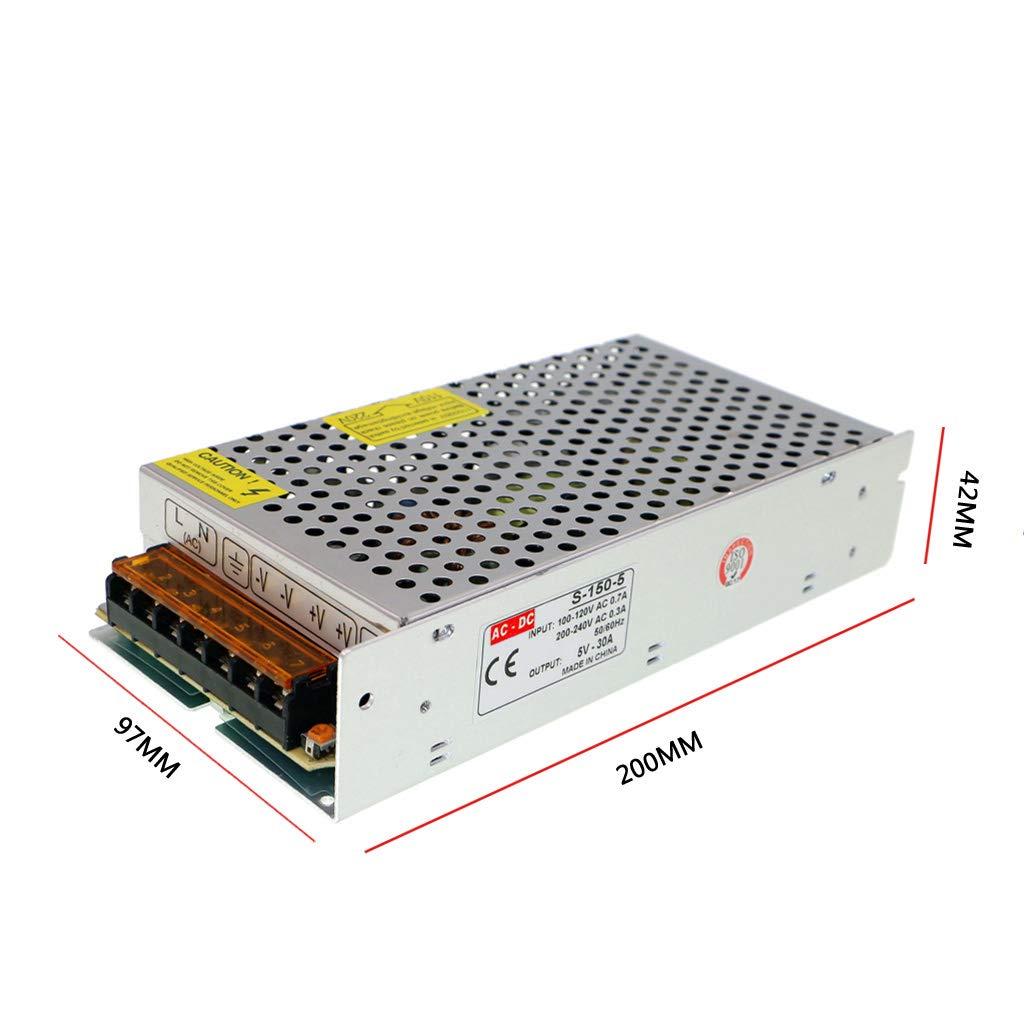HAILI AC 110V//220V to DC 5V 20A 100W Switching Power Supply AC-DC Power adapter Transformer 5V 20A