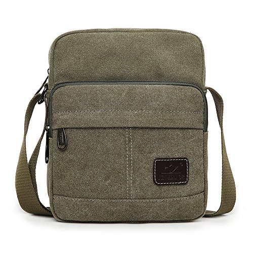 Unisex Travel Essvita Bag Bag Leisure Messenger Black Light Satchel function Canvas Outdoor Messenger Multi Shoulder Bag Green Hdrwvqd