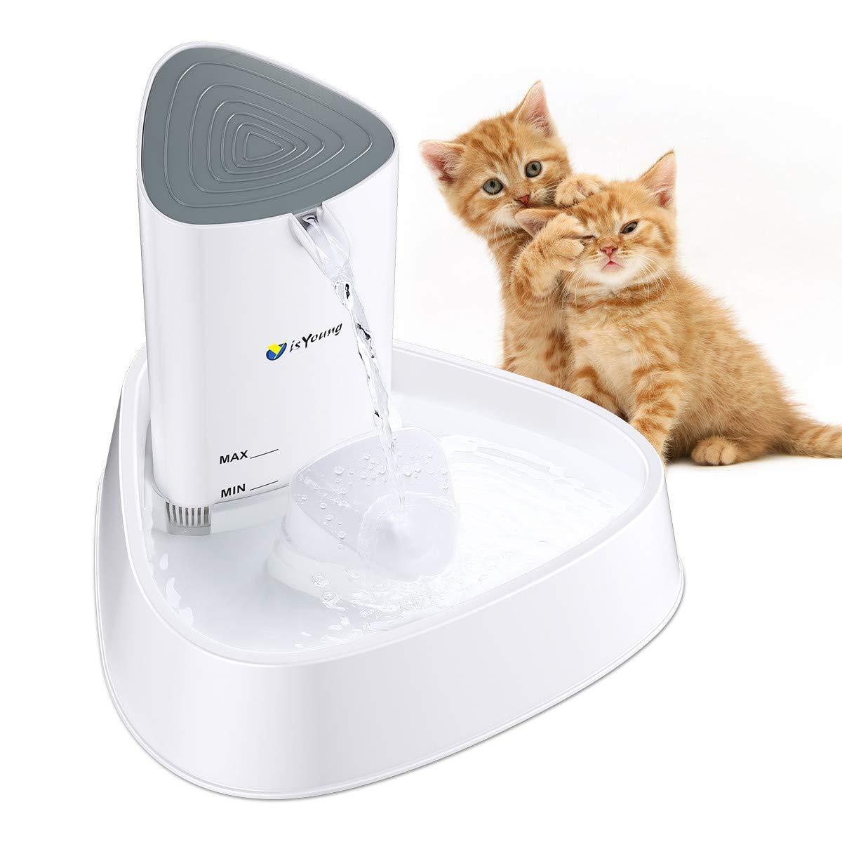 isYoung Fuente de Agua Gatos y Perros Dispensador de Agua Automático para Mascotas Bebedero Silencioso 1.5