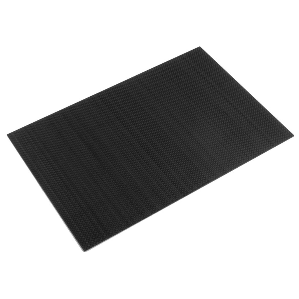 Dabixx Carbon Fiber Plate, Real Glossy Carbon Fiber Plate Panel Sheet 3K Plain Weave 200×300×2mm - Glossy - 2.0mm/200x300