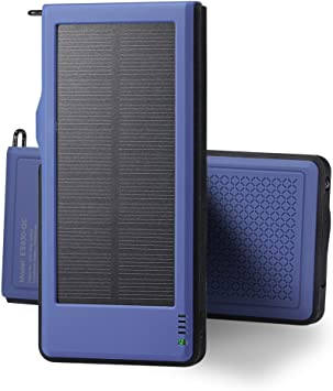 Power Bank, Cargador Solar Portátil 10000mAh Interfaz de Salida ...