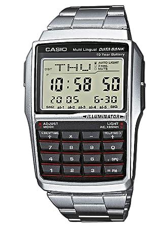 0a946d5e49 Amazon | CASIO (カシオ) 腕時計 データバンク DBC32D-1A シルバー[逆 ...