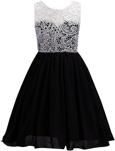 Lace/&Chiffon Kids Princess Dress Flower Girl Pageant Wedding Gown Summer Dresses