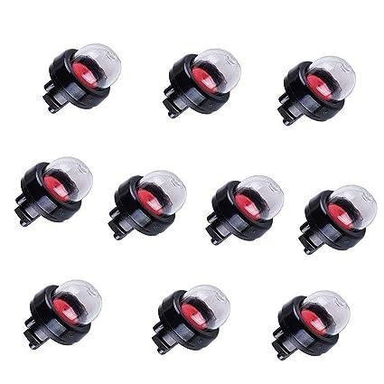 Poweka 503936601 Primer Bulb for Husqvarna Stihl Craftsman Poulan Chainsaw  455 Rancher 460 445 450 435 Pack of 10