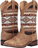 Laredo Womens Tan/Brown Cowboy Boots Leather Cowboy Boots Square Toe 9 M