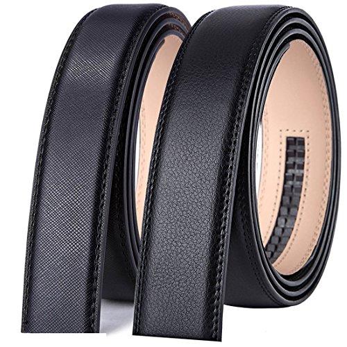 Bulliant Genuine Leather Ratchet Belt,Buckle and Strap for Men 1 3/8,No Hole