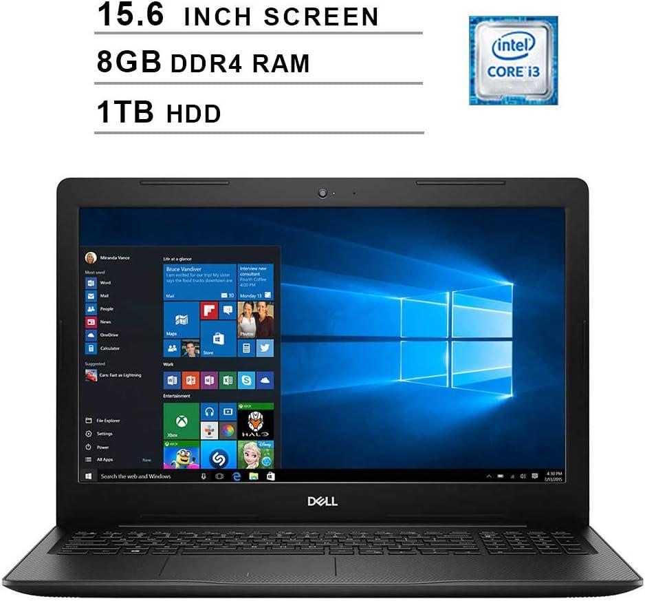 2020 Newest Dell Inspiron 15 3583 15.6 Inch Laptop (8th Gen Intel Core i3-8145U up to 3.9GHz, 8GB DDR4 RAM, 1TB HDD, Intel UHD 620, WiFi, Bluetooth, HDMI, Windows 10) (Black)