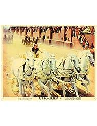 Ben-Hur Original Lobby Card Charlton Heston Classic Chariot Race Scene