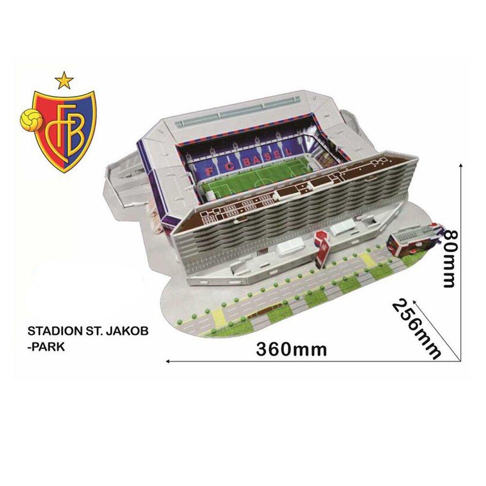 Xueyanwei Copa del Mundo De Montaje Jigsaw Puzzle St. Jacob Park Stadium 3D Modelo De Fútbol Campo De Fútbol Aficionados Recuerdos Juguetes De Regalo