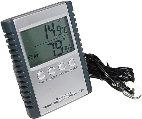 QYY Frigorífico/Congelador Termómetro con sonda, Termómetro LCD ...