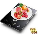 Housmile Báscula Digital de Cocina, Báscula Electrónica Táctil para Cocinar, Balanza de Alimentos Multifuncional