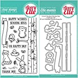 ShopForAllYou Stamping & Embossing (Stamp & Die Bundle)''Woodland Wonders'' Clear Stamps Only OR Clear Stamp