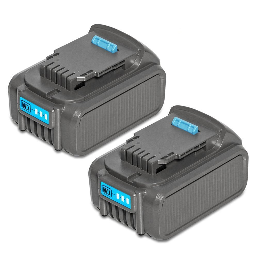 Surepp lithium ion tools battery pack for dewalt 20v max 6.0Ah battery dcb180 dcb181 dcb200 dcb201 dcb204 dcb205 dcb205-2 with led indicator (2 pack)