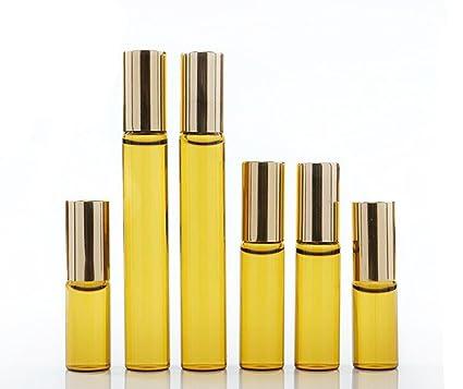 2 pcs de 5 mlvacío contenedor de rodillo rollo en botellas de vidrio ámbar aceite esencial