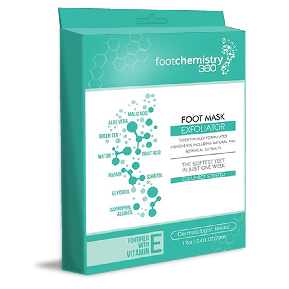 Foot Peel Mask, Exfoliate Feet & Get Rid of Calluses, Dry Dead Skin, & Bacteria. Repair Heels With Comfortable Sock Booties For Soft New Smooth Skin On Your Feet in One Week- Foot Chemistry