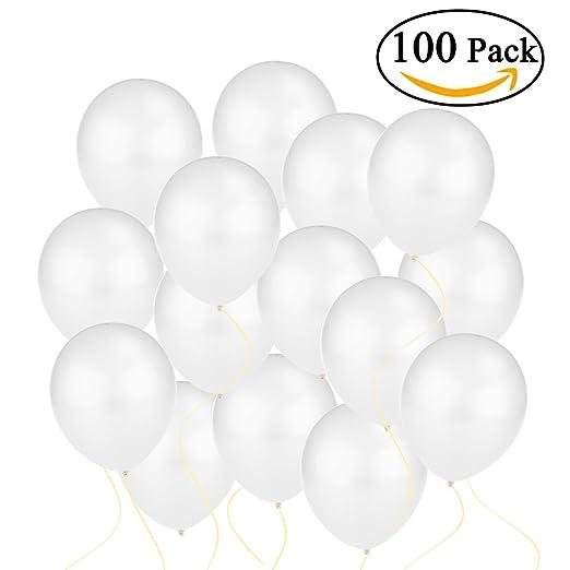 25 opinioni per NUOLUX Palloncino 12 pollici lattice metallico palloncini 100pcs (bianco)