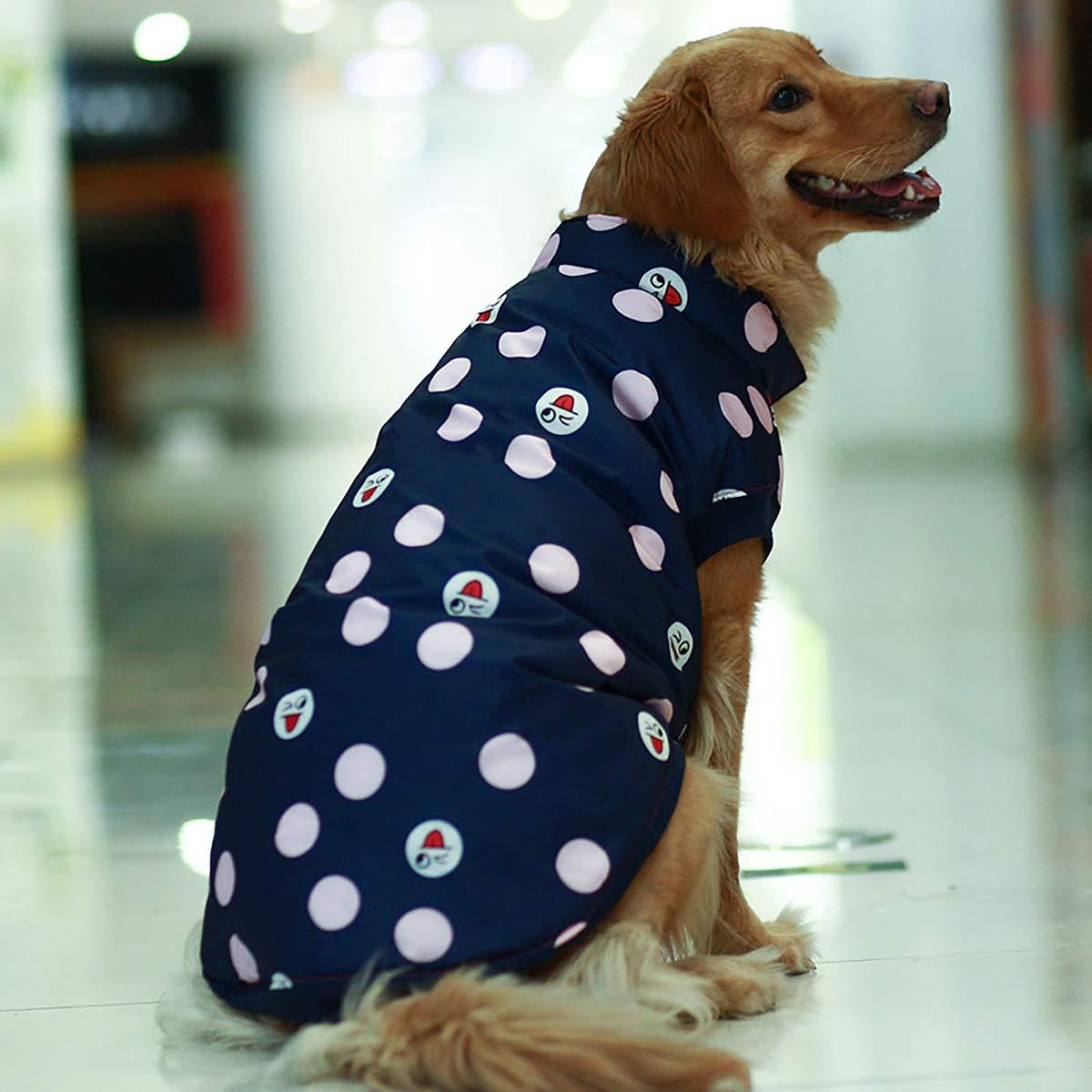 bluee Small bluee Small Dog Clothes Winter Clothes, Teddy golden Hair Puppies, Labrador alas Big Dog Vest, Big Dog Two feet Clothes S, M, L,bluee,S