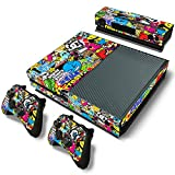 Mod Freakz Console and Controller Vinyl Skin Set - Graffiti Colors for Xbox One